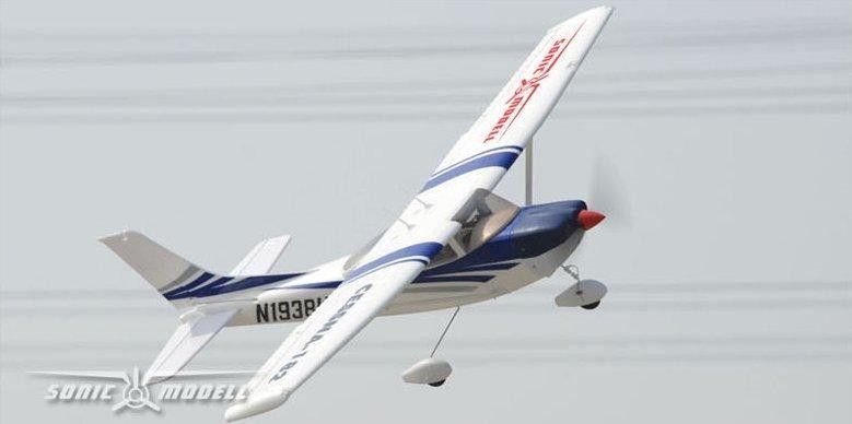 RC lietadlo Sonic-Modell Cessna 182 2.4GHz RTF (96,5 cm, Brushless motor)