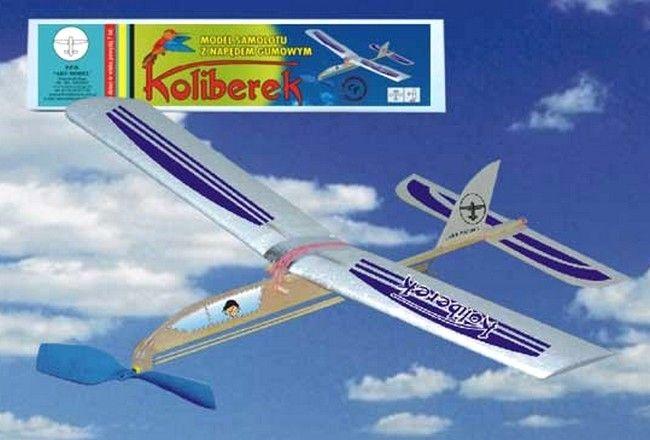 Hádzadlo HM: lietadlo KOLIBEREK s gumovým pohonom