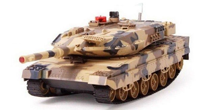Bezpečný bojový RC tank UF Leopard infra, 2,4 GHz - žltá