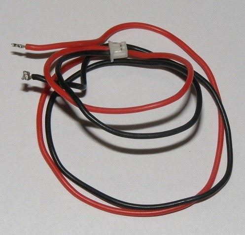 Drôty so zástrčkou (červená a čierna) pre motory, LED diódy, pre mini drôty a vrtuľníky