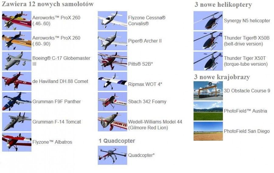 Real Flight (Great Planes) Rozširujúci balík 8 doplnok RealFlight simulátora