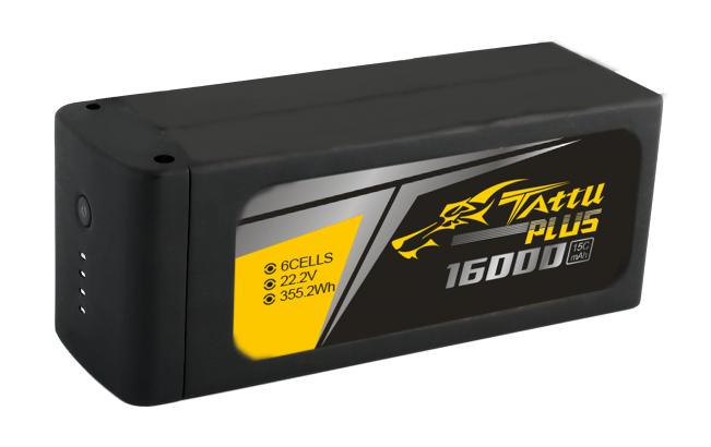 16000mAh 22.2V 15C TATTU Plus Gens Ace