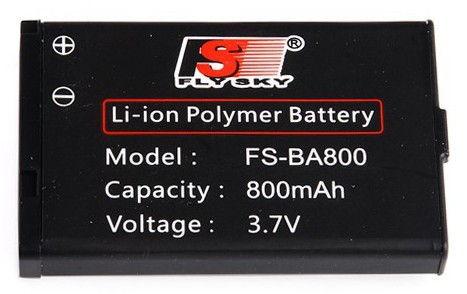 800mAh 3.7V Li-Ion FS-BA800 FlySky - vysielač