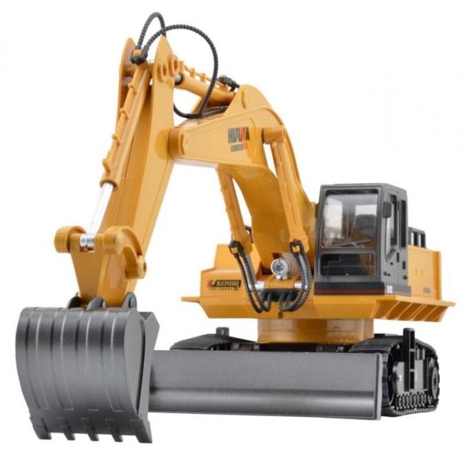 RC pracovný stroj na diaľkové ovládanie HUINATOYS Rýpadlo-nakladač 1:16 11CH 2,4 GHz