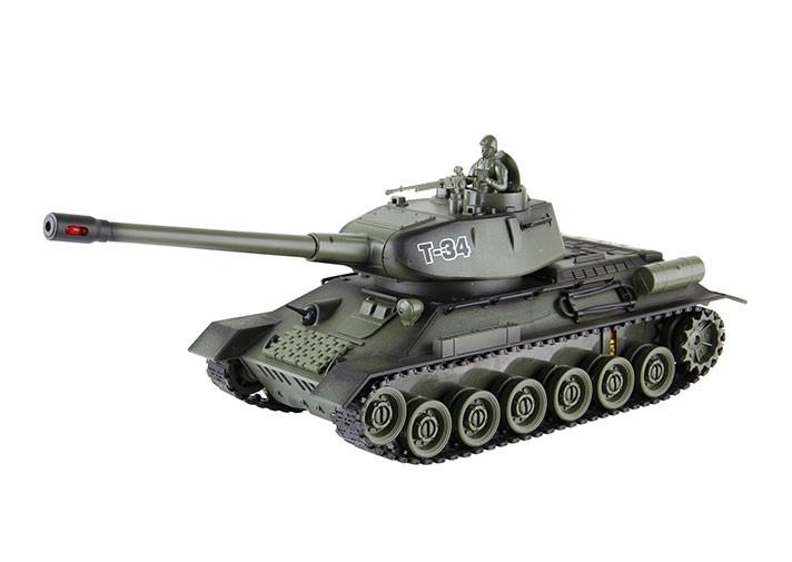RC tank na ovládanie Russian T-34 1:28 2.4GHz RTR