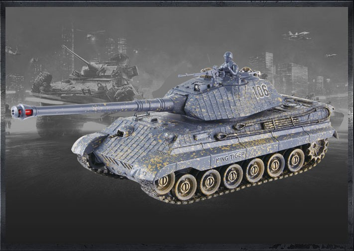 RC tank German King Tiger v3 1:28 2.4GHz RTR
