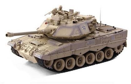 RC tank na ovládanie Zegan, German Leopard 2 1:18 RTR ASG - BB streľba