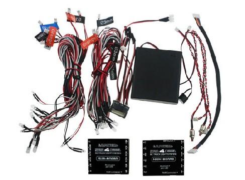 Profesionálny 4-kanálový systém osvetlenia LED pre RC autá s bluetooth