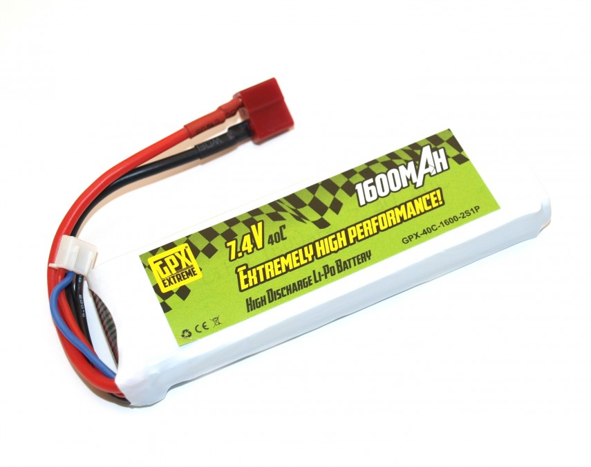 Batéria1600mAh 7.4V 40C LiPo T-Dean GPX Extreme