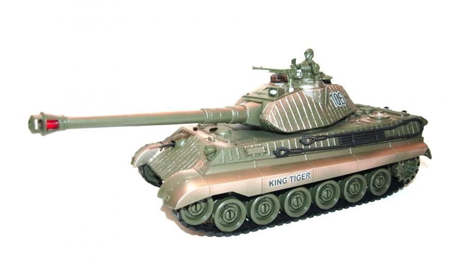 RC tank na ovládanie German King Tiger 1:28 2.4GHz RTR