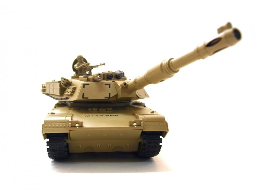 RC Súbojový tank na diaľkové ovládanie UF M1A2 Abrams 1:28 2,4 GHz RTR, 99803
