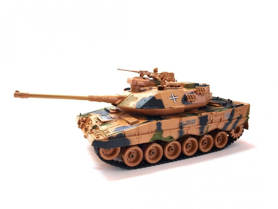 RC tank na ovládanie Zegan, German Leopard 2 ASG 1:18 RTR - strieľa BB guľôčky