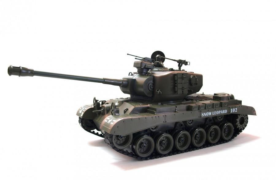 RC tank na ovládanie Zegan, American M26 1:18 RTR ASG - BB streľba