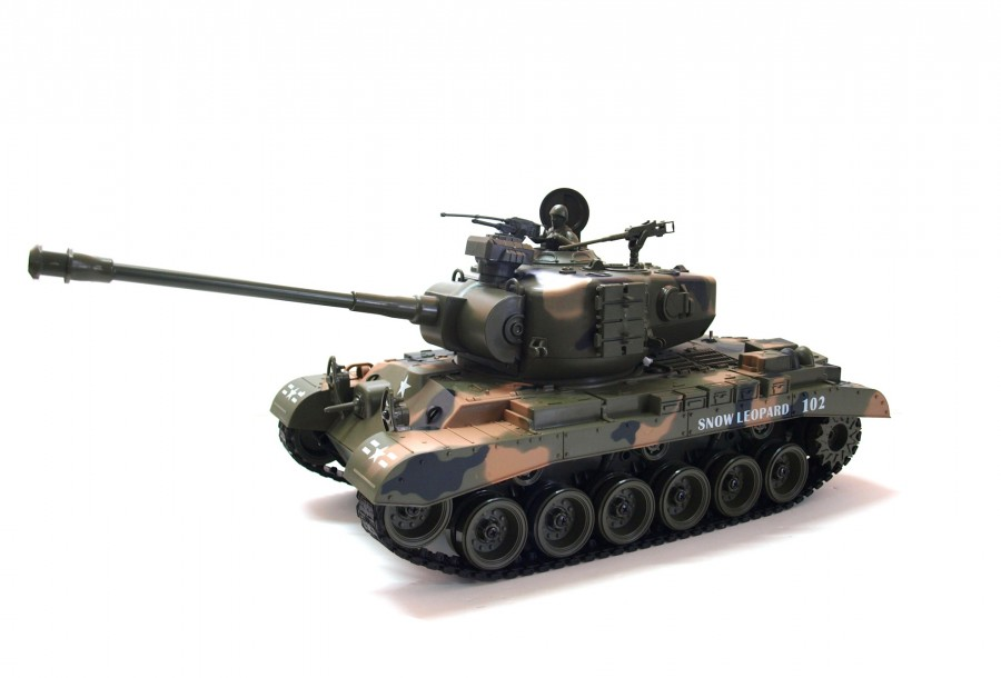 RC tank na ovládanie Zegan, M26 SNOW LEOPARD 1:18 RTR ASG - BB streľba