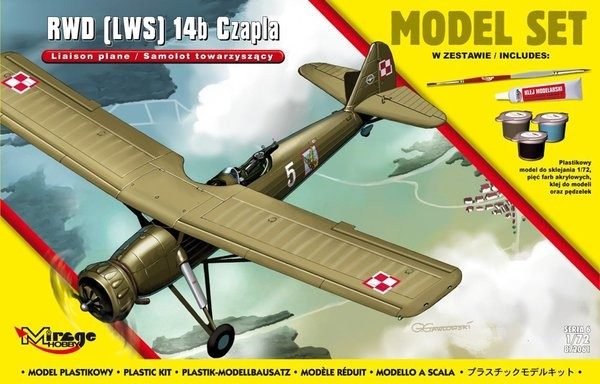 Plastový model na lepenie MIRAGE: RWD LWS 14b 'CZAPLA' Polish Accompanying Plane