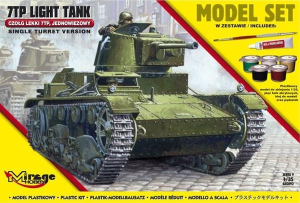 Plastový model na lepenie MIRAGE: 7TP Poľský ľahký tank jednovežový