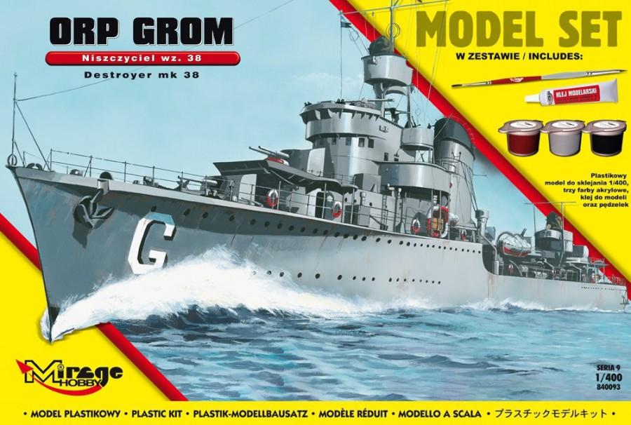 Plastový model MIRAGE ORP 'GROM' wz.38 Poľský torpédoborca druhej svetovej vojny
