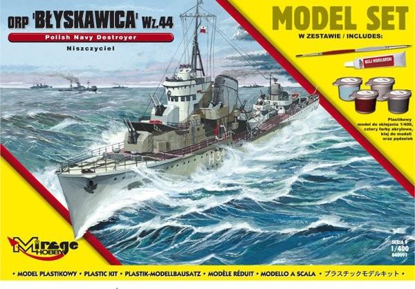 Plastový model MIRAGE: ORP 'BŁYSKAWICA' wz.44 Polish Destroyer of WWII