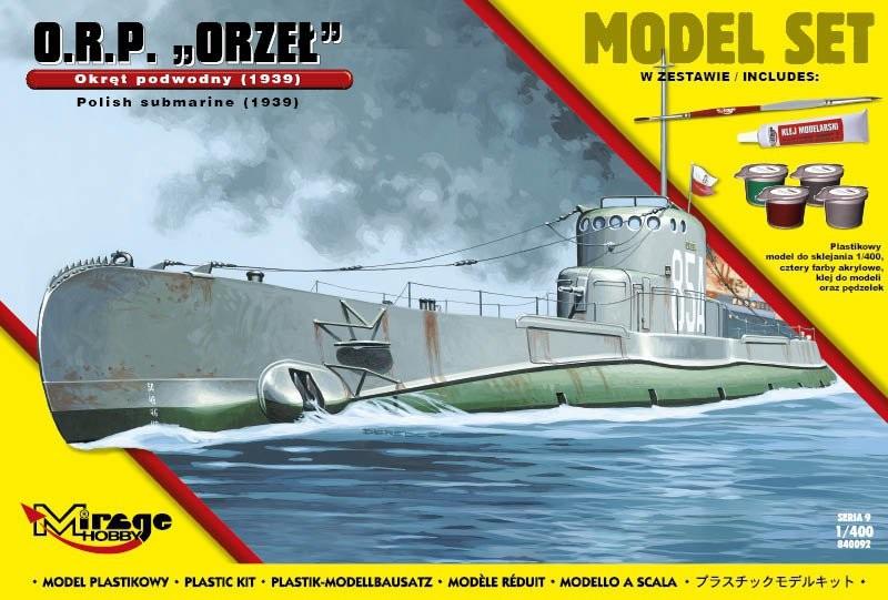 Plastový model MIRAGE Poľská ponorka ORP 'ORZEŁ' 1939