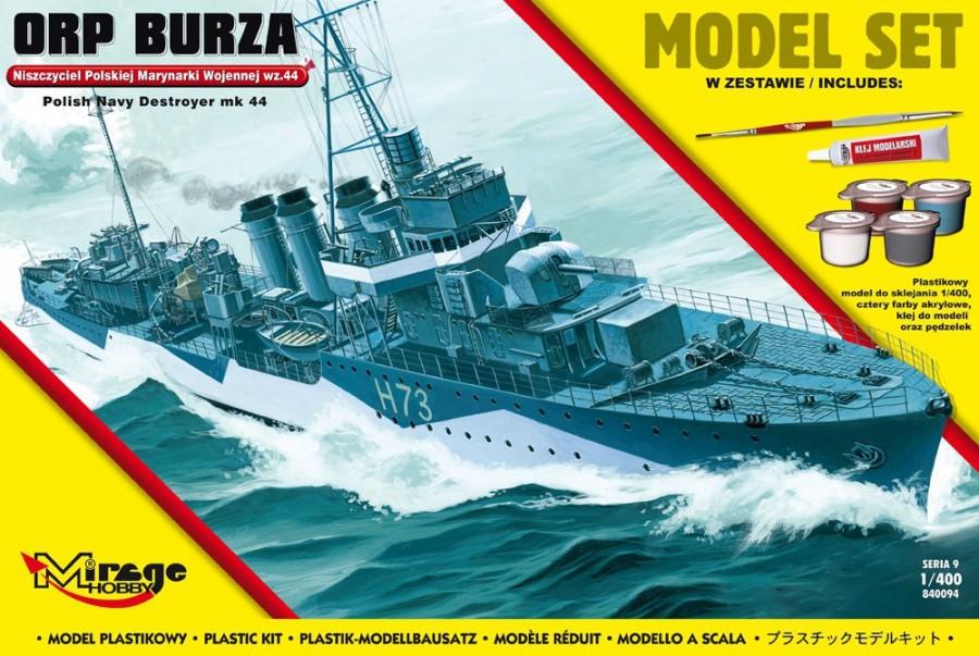 Plastový model MIRAGE: ORP 'BURZA' wz.44 Polish Destroyer of WWII