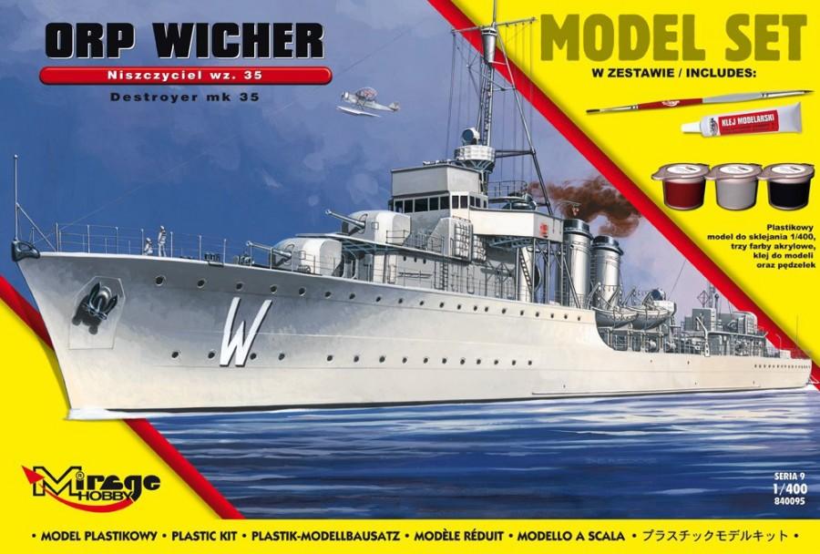 Plastikový model na lepenie MIRAGE: ORP 'WICHER' wz.35 Polish Destroyer of WWII