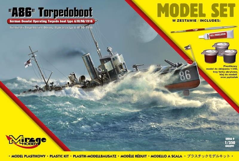 MIRAGE: 'A86' Torpedoboot German TorpedoW Obrony Wybrzeża type A / III / 56/1916