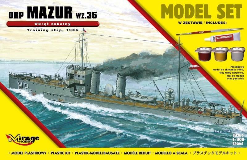 MIRAGE ORP 'MAZUR' 1935 Poľská školská loď