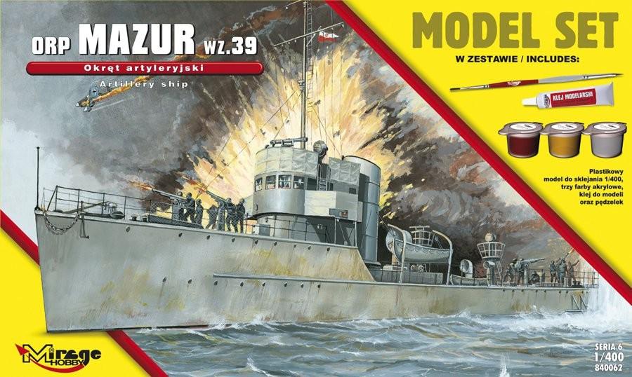 MIRAGE ORP 'MAZUR' 1939 Poľská delostrelecká loď