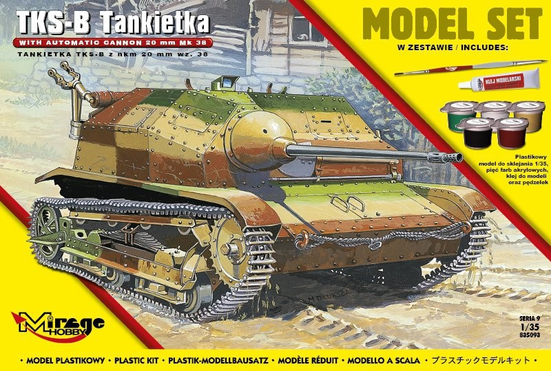 MIRAGE TKS-B Poľsko Tanket - s NKM 20 mm wz. 38