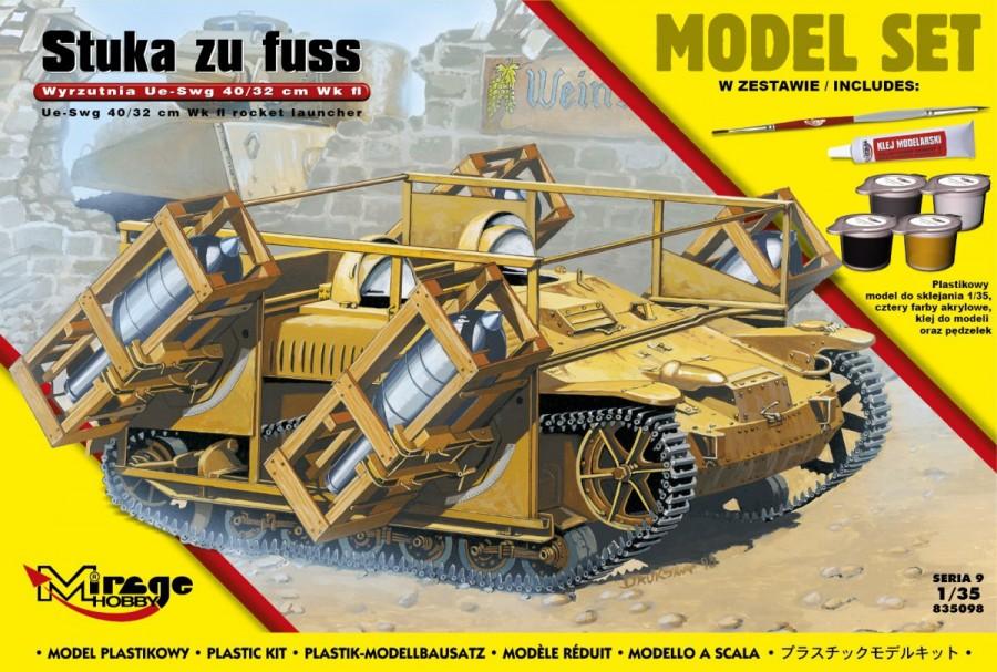 Plastový model MIRAGE: 'STUKA zu FUSS' launcher UE-sWG 40 / 32cm Wk Flwy