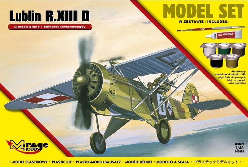 Plastový model na lepenie MIRAGE: LUBLIN R.XIII D Polish Accompanying Aircraft