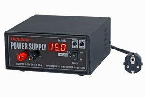 Graupner 5-15V 0-20A 300W napájací zdroj