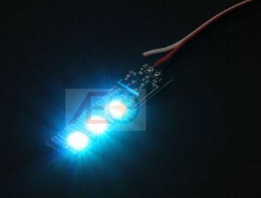 3-LED doska s LED osvetlením (5V 216mW, 7 farieb)