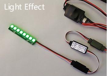 8-LED doska s LED osvetlením (5V, 7 farieb) s regulátorom osvetlenia