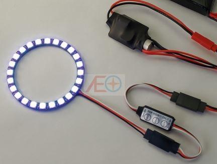 24-LED doska s LED osvetlením (5V, 7 farieb) s regulátorom osvetlenia