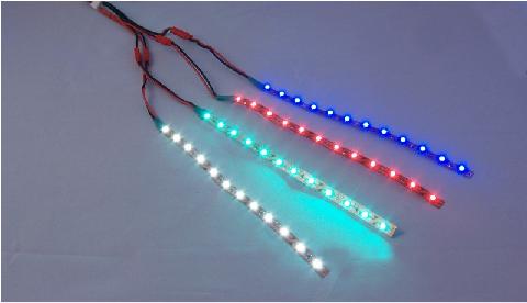 LED osvetlenie pre nočné lety - 4 viacfarebné pásy