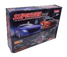 Autodráha na ovládanie Joysway Superior 502 1:43 - 765cm, 2 slučky, digitálne počitadlo