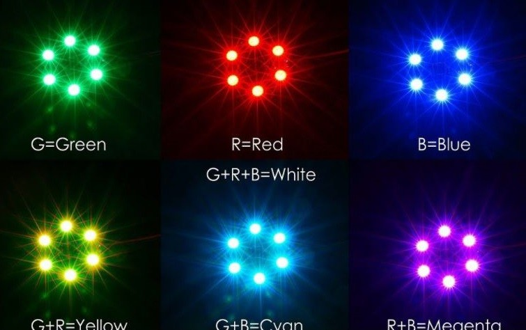 LED osvetlenie RGB CIRCLE X6-12V farebné