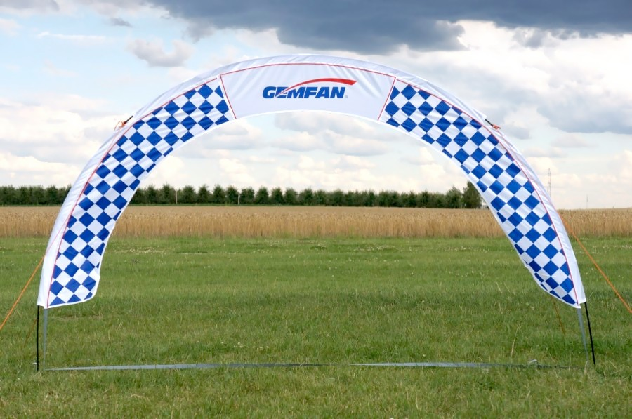 GEMFAN 300x190cm cieľ pre pretekanie dronov