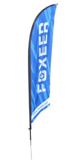 Flag 50x250cm Foxeer pre pretekárov
