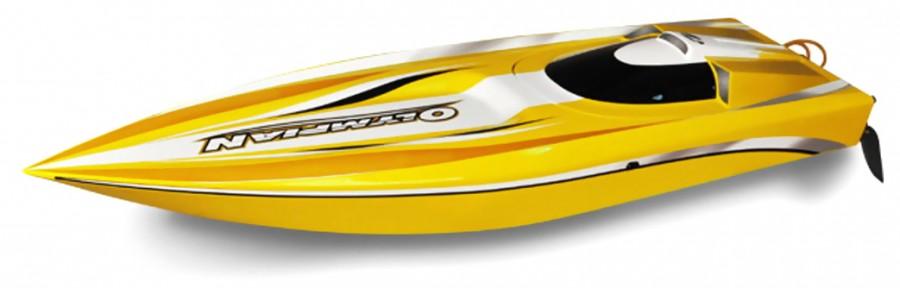RC loď Thunder Tiger: Olympian Extreme Jet sprint racing 2.4GHz RTR brushless - žltá