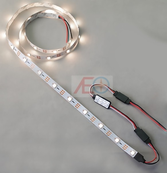 Sada LED osvetlenia - RGB 2m pás + regulátor 5V