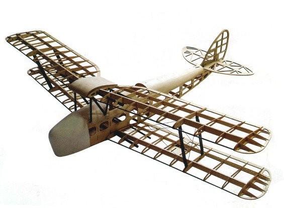 DW Hobby: Tiger Moth Balsa KIT lietadlo (1400 mm)