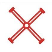 Prepravný zámok pre vrtule DJI Spark - červená