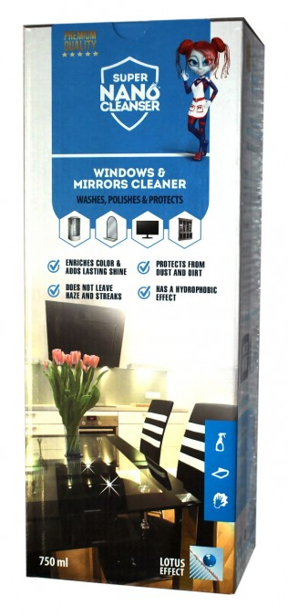 Sada na čistenie a ochranu okien, zrkadiel a monitorov - 750 ml