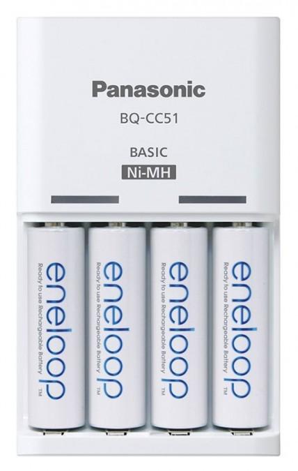 Panasonic Eneloop BQ-CC51E + 4xAA nabíjačka Eneloop 1900mAh (AA / AAA)
