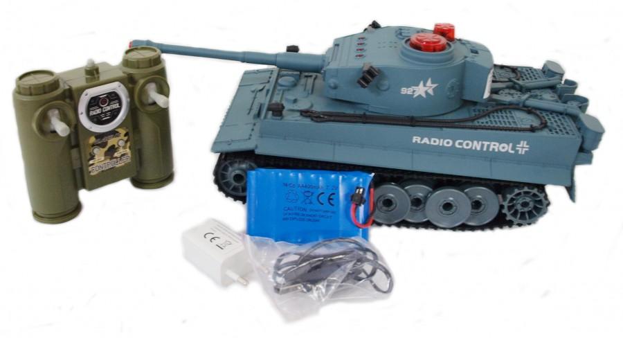 RC tank WL toys Tiger RTR 1:72 27-49MHz - Modrá