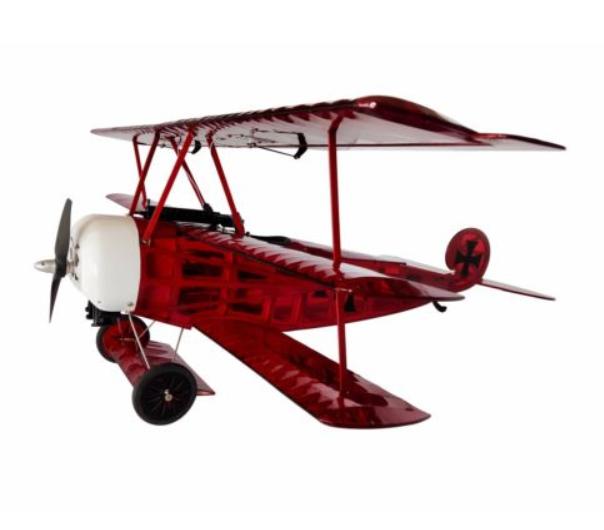 RC lietadlo DW Hobby Fokker DR1 ARF Balsa 770 mm