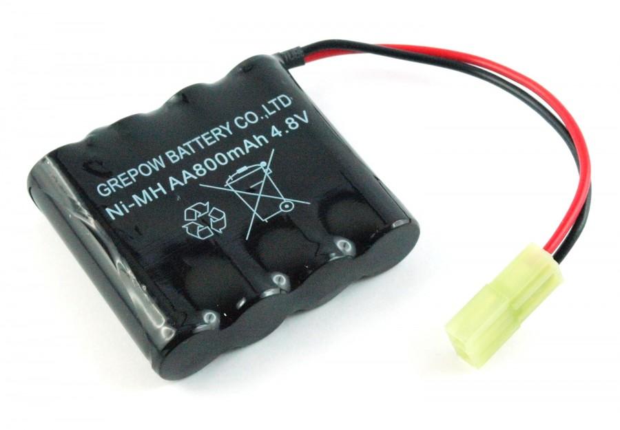 Batéria Hobby Engine: 800mAh 4.8V NiMH Mini Tamiya