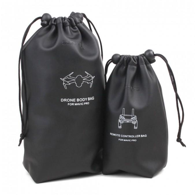 GPX Extreme Kožené vodotesné ochranné tašky DJI Mavic Pro - čierna
